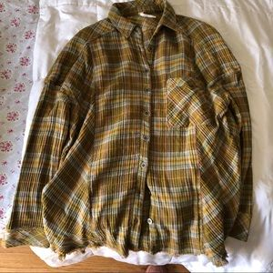 free people flannel tunic